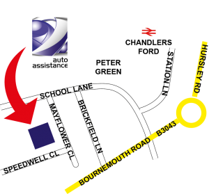 Auto Assistance Location Map